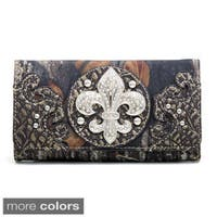 Mossy Oak Camouflage Fleur de Lis Tri-fold Wallet