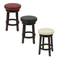 The Gray Barn Arbakka Round Leatherette 24-inch Bar Stool