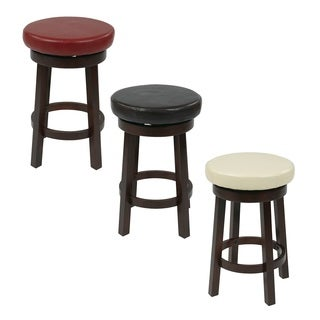 Office Star Products Round Leatherette 24-inch Bar Stool