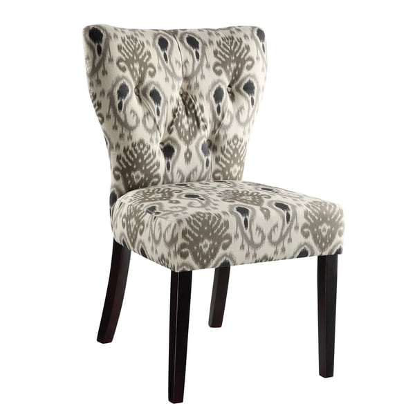 Ave Six Andrew Tufted Back Armless Chair Free Shipping