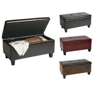 Ave Six Eco Leather Storage Bench