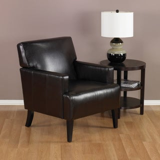 Ave Six Carrington Espresso Eco Leather Armchair