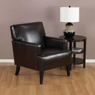 Ave Six Carrington Espresso Eco Leather Armchair