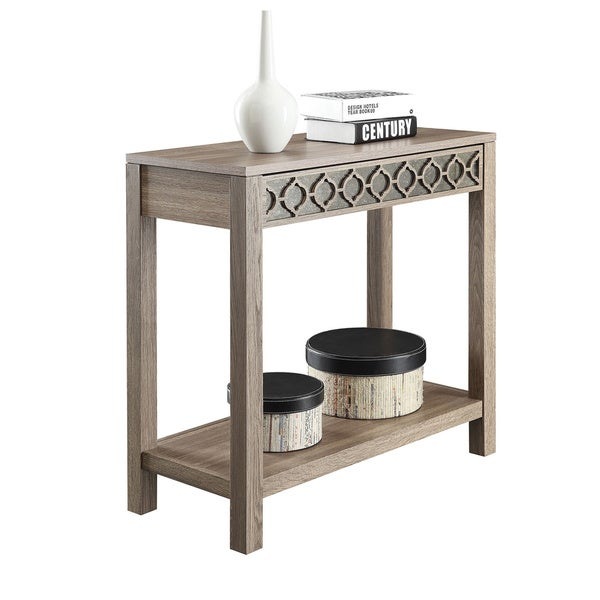 Helena Sun Bleached Oak Console Table   Free Shipping Today   Overstock.com    16292924