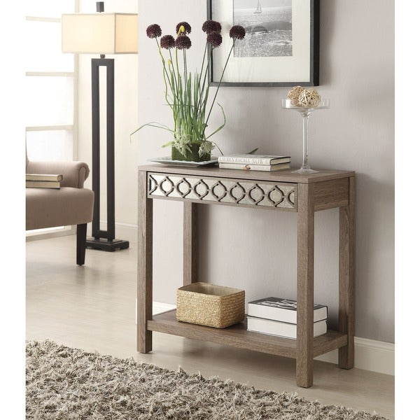 Helena Sun Bleached Oak Console Table