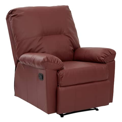 Kensington Bonded Leatherette Recliner with Solid Wood Legs