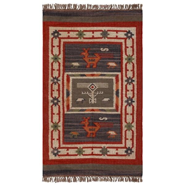 Shop Hand Woven Tribal Wool Amp Jute Area Rug 3 X 5