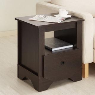 Furniture of America Maxwell Single Drawer Espresso Nightstand