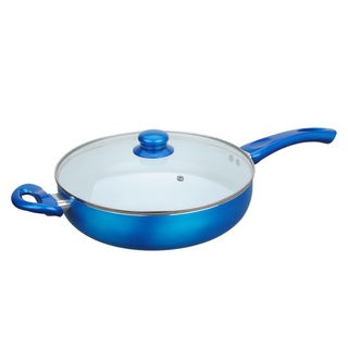 Ceramic Deep 11-inch Fry Pan with Glass Lid