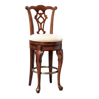 Powell Ashbury Deep Cherry 30 3/4-inch Seat Height Swivel Armless Bar Stool