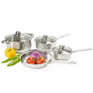 Stainless Steel Belly Shaped 7-piece Cookware Set