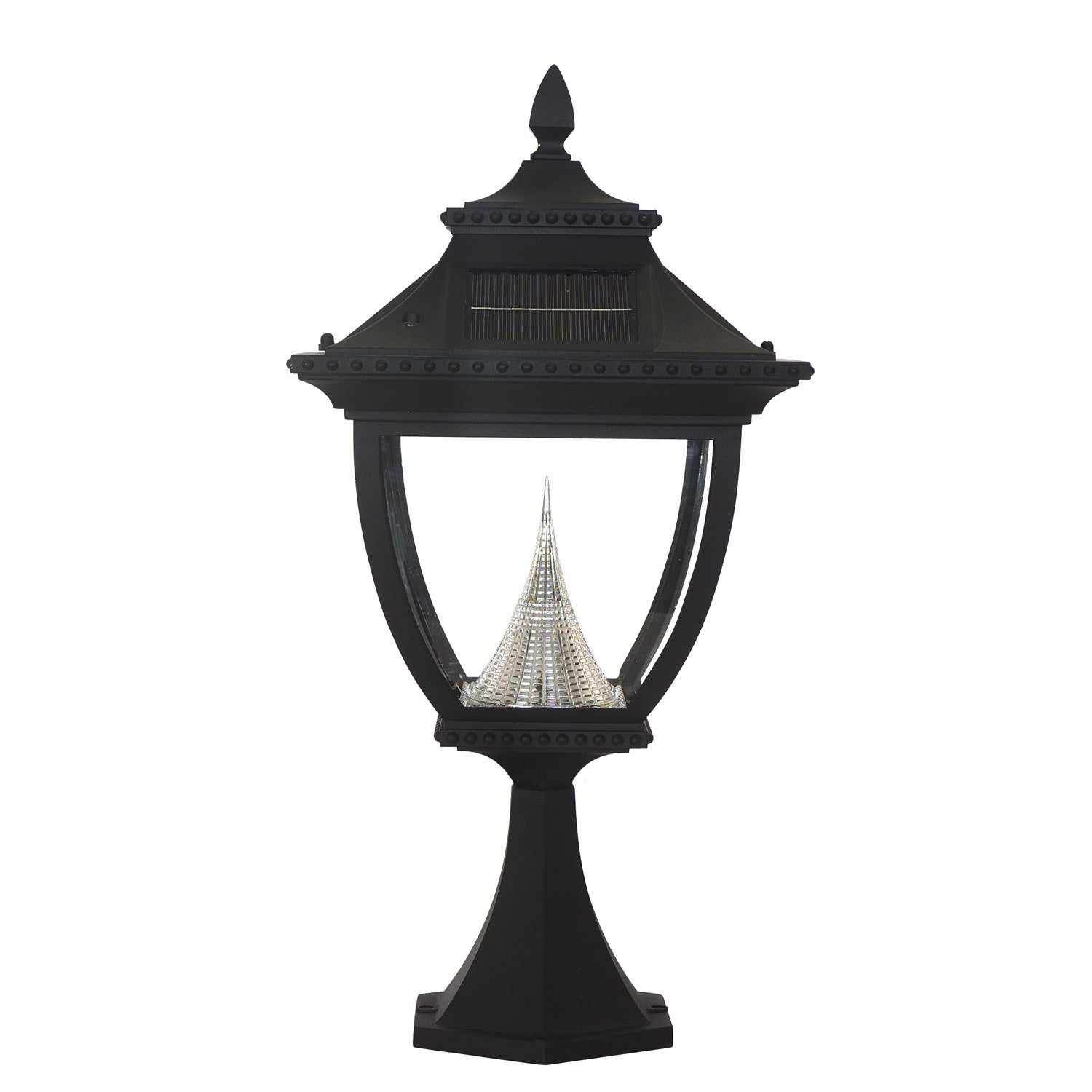Gama Sonic GS-104P Pagoda Solar Light with 8 Bright-White...