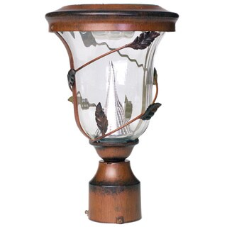 Gama Sonic GS-113F Solar Light with 6 Bright-White LEDs, 3-Inch Fitter for Post Mount, Antique Bronze Finish
