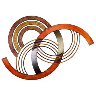 Metal Circle Wall Decor stratton home decor interlocking circles metal wall decor - free