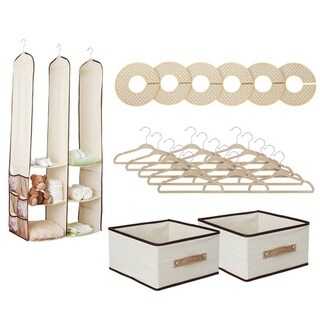 Delta Children's 24-piece Nursery Closet Set in Beige