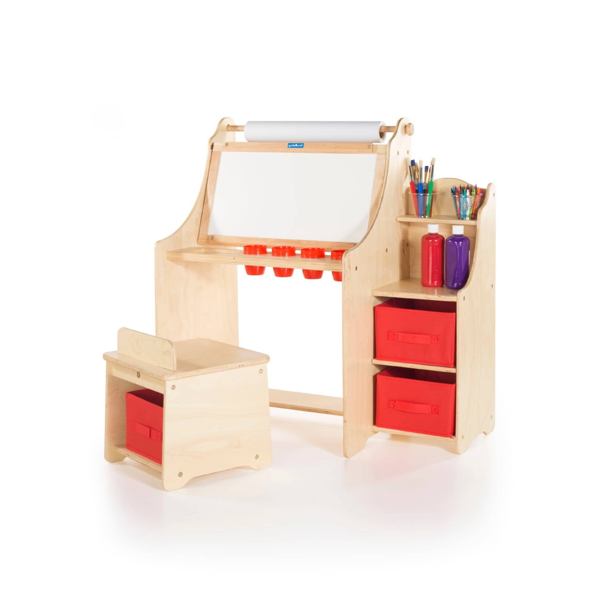 Guidecraft Artist Activity Desk, Neutral
