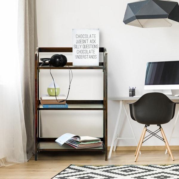 stratford 3shelf folding bookcase - Folding Bookcase