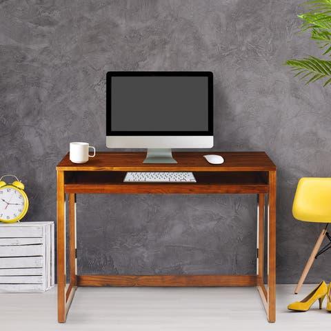 Modern Folding Desk with 4 USB Ports