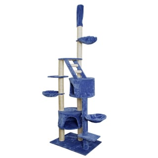 OxGord Blue/ White 101-inch Cat Tree Tower Condo Scratching Furniture