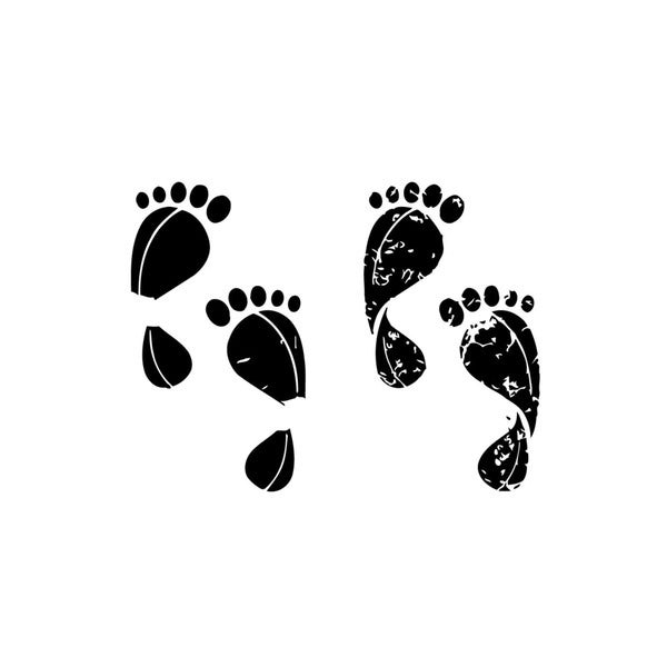 Two Sets of Footprints Vinyl Wall Art