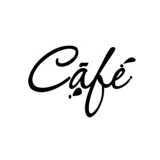 Cafe Shop Sign Vinyl Wall Art