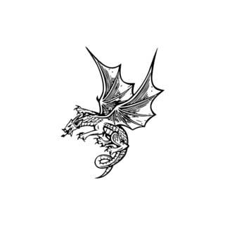 Flying Dragon Vinyl Wall Art