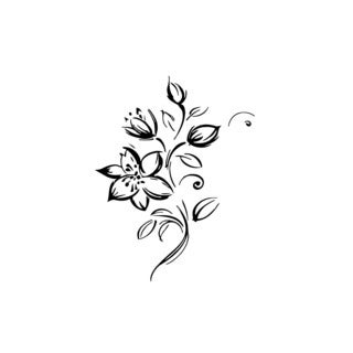 Flower Plant Floral Vinyl Wall Art