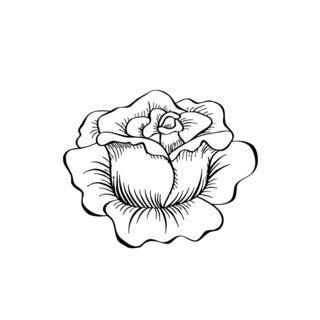 Head of Rose Flower Vinyl Wall Art