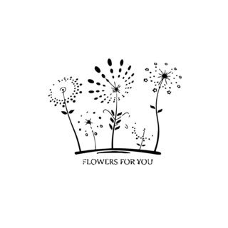 Flowers For You Vinyl Wall Art
