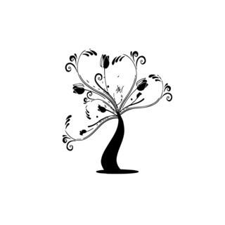 Floral Plant Tree Vinyl Wall Art