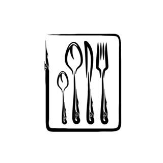 Spoon Fork Knife Vinyl Wall Art