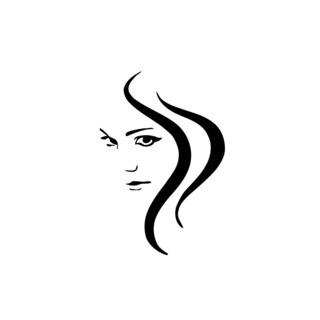 Woman Face Tribal Hairs Vinyl Wall Art