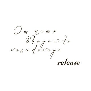 Release Mantra Quote Vinyl Wall Art