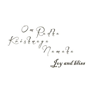 Joy and Bliss Mantra Quote Vinyl Wall Art