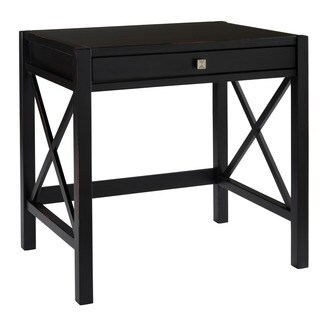 Linon Elsa Laptop Desk, Ebony with Rub Thru