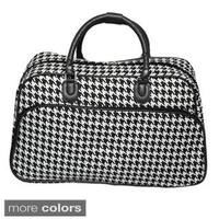 World Traveler Houndstooth 21-inch Carry-on Duffle Bag