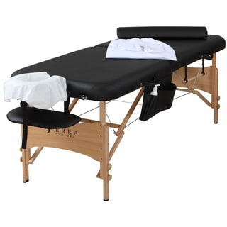 Sierra Comfort All-inclusive Portable Massage Table with Accessory Package