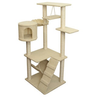 OxGord Beige 54-inch Cat Tree