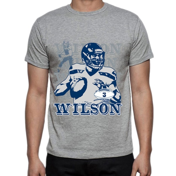 Men's Seattle Seahawks Russell Wilson Portrait T-shirt