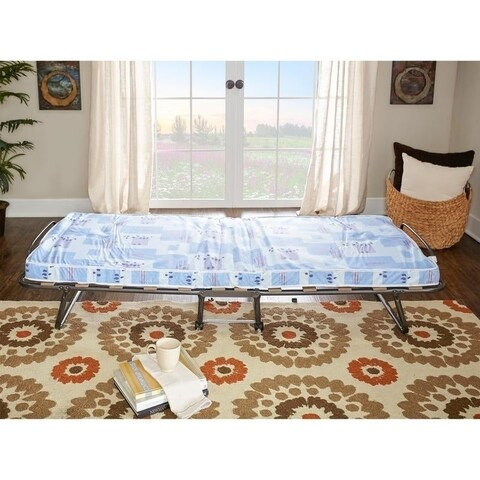 Linon Legatus Easy to Use Folding Bed with Mattress