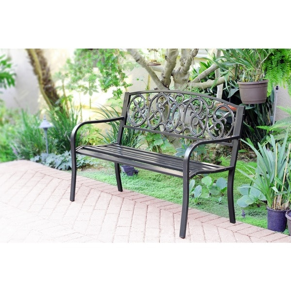 50-inch Royal Curved Back Steel Park Bench
