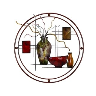 Copper Grove Chatfield Aesthetically Charmed Round Metal Wall Decor, Multicolor