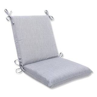 Pillow Perfect Squared Corners Chair Cushion with Grey Sunbrella Fabric