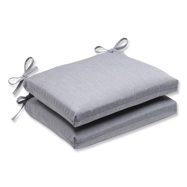 Pillow Perfect Squared Corners Seat Cushion with Grey