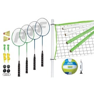 Franklin Sports Intermediate Badminton & Volleyball Set