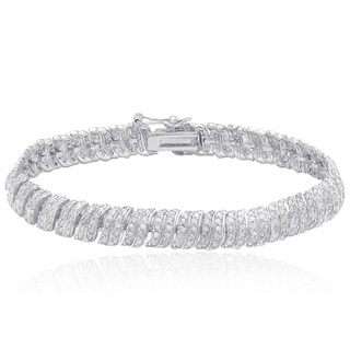 Finesque Sterling Silver 2 1/2ct TDW Diamond Bracelet (I-J, I2-I3)