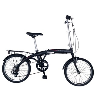 Hollandia Unisex Black Amsterdam 7 Folding Bicycle, with 20-inch Wheels and 11-inch Frame