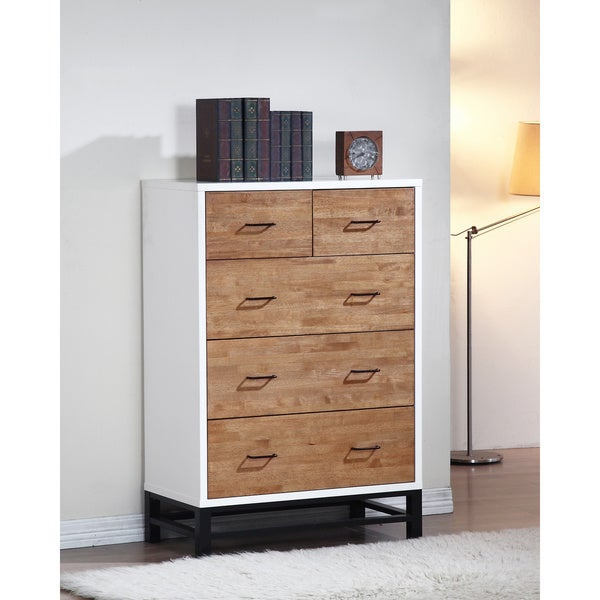 Henna Tri Tone 5 Drawer Chest Free Shipping Today