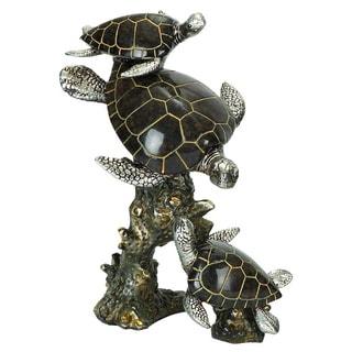 Three Polystone Sea Turtles
