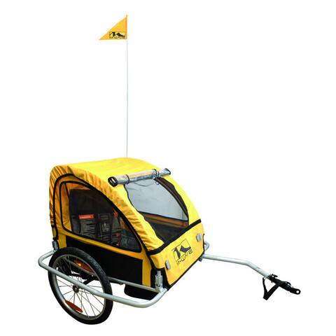 Foldable Bicycle Trailer with Suspension